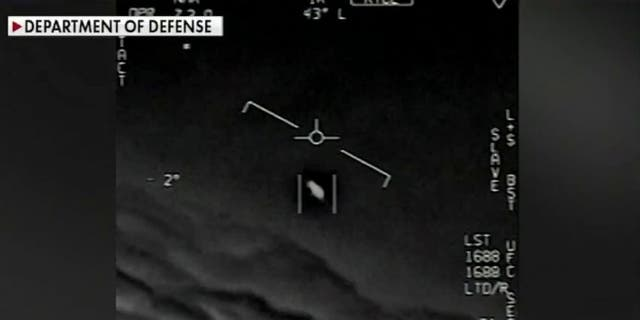 Image showing an unidentified object that was captured in video by the Navy in 2004.