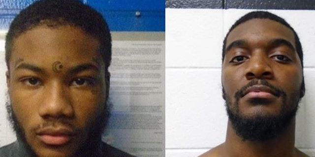 Rashad Williams (left) and Jabar Taylor (right) have been sought by authorities since Monday.