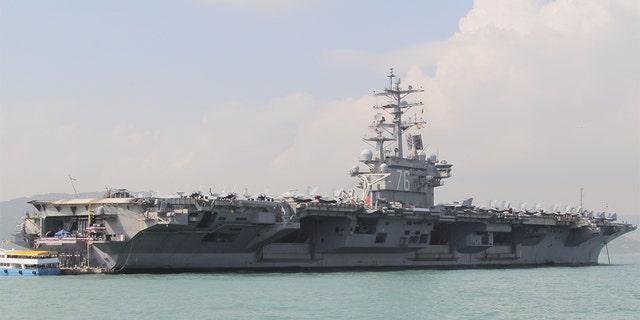 U.S. Navy aircraft carrier USS Ronald Reagan. (REUTERS/Yuyang Wang)