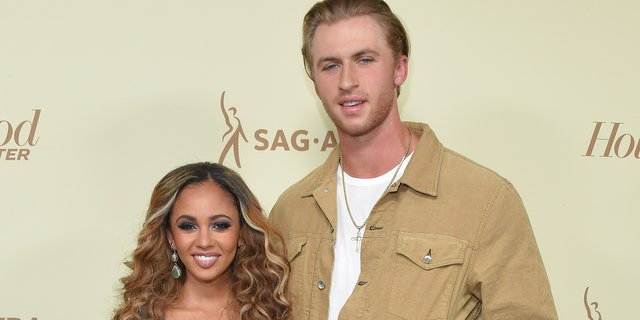 After 6 months of marriage, Vanessa Morgan and baseball player Michael Kopech separate.  (LISA O'CONNOR / AFP via Getty Images)