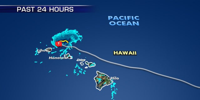 Hurricane Douglas just skirted the Hawaiian islands on Sunday.