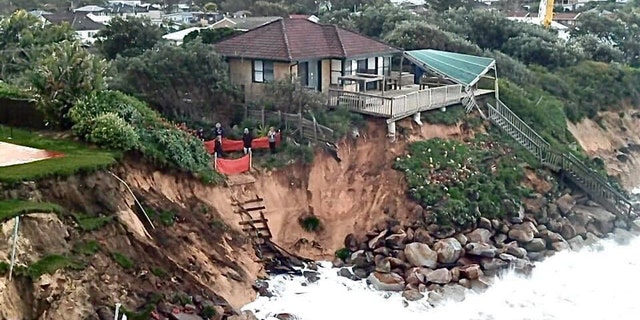 """The Terrigal Fire Station says it is responding tp """"homes at significant risk of structural collapse due to beach erosion."""" (Terrigal Fire Station)"""