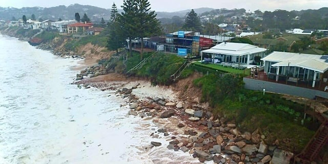 The high waves are expected to continue into the weekend. (Terrigal Fire Station)