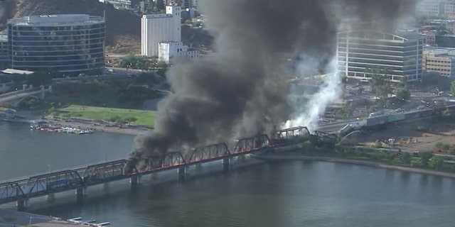 On July 29, 2020, the train bridge partially collapsed after a rail and a fire in Tempe, Arizona.