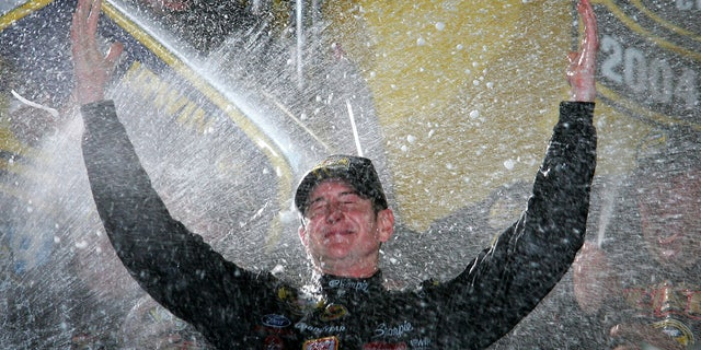 Busch claimed his 2004 Cup Series championship at Homestead Miami Speedway.