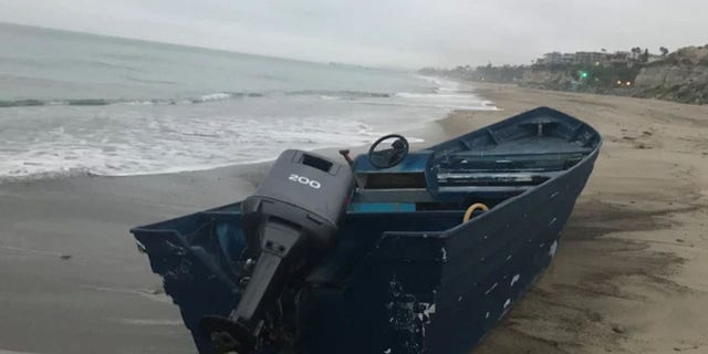 The boat landed on Calafia Beach near San Clemente before 5 a.m. Tuesday.