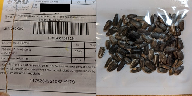 One of the packages sent to Ohio containing the seeds. (Ohio Department of Agriculture)