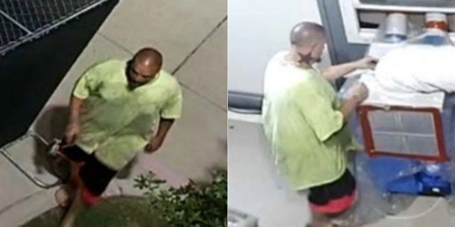 The suspect is accused of stealing items like air conditioners, hand sanitizer and a thermometer from the storage location of a Dallas coronavirus testing site. (Dallas County Hospital District Police Department)