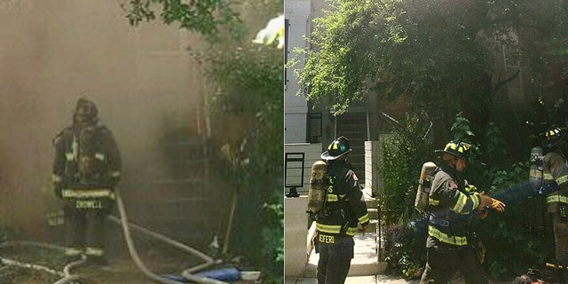 Six dogs were rescued from a burning home during the intense heat wave in Washington, D.C. Tuesday.