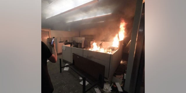 Prosecutors believe Thomas Schinzing set a fire in the Corrections Records Office of Portland's Justice Center.
