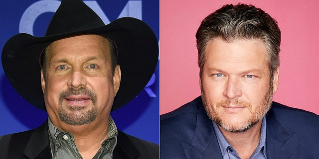 Garth Brooks and Blake Shelton