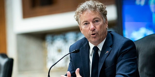 Sen. Rand Paul, seen here in June 2020, has been fined $21,000 by the Federal Election Commission for improperly handling contributions.