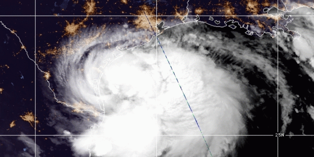 Satellite look of Hurricane Hana, which was upgraded from a tropical storm Saturday