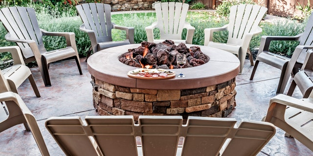 Another customer favorite is the gas fire pit,a convenient choice that's easy to maintain.