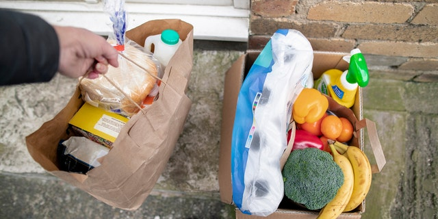 Online grocery delivery services have gained popularity throughout the coronavirus pandemic. (iStock)