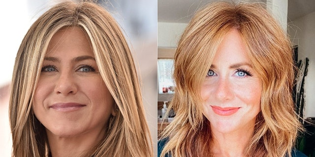 A blogger named Caitlin has gone viral after a new hairstyle has a lot of people thinking she resembles Jennifer Aniston
