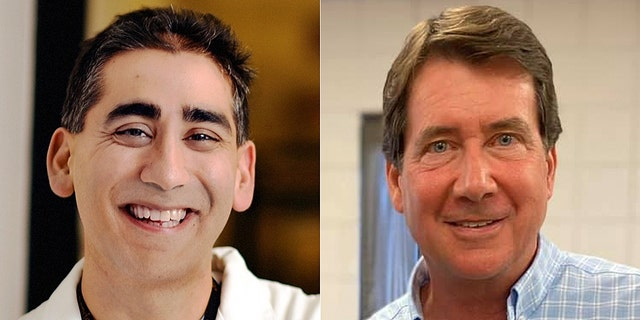 Former U.S. Ambassador to Japan Bill Hagerty, right, emerged from a tough challenge from trauma surgeon Manny Sethi, left, to victory Thursday in a contested Republican primary for an open U.S. Senate seat in Tennessee. (Facebook)