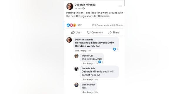 A screenshot of an academic sharing the Facebook post.