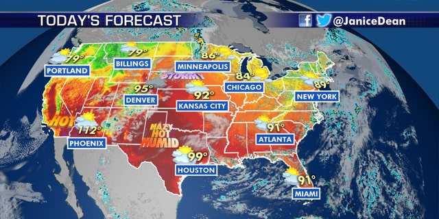 The national forecast for July 13, 2020.