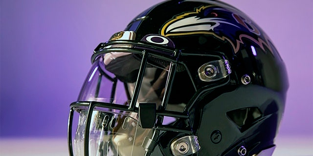 This photo provided by Oakley shows a new face shield designed by Oakley. With NFL training camps set to start at the end of the month, the league believes it is closer to one answer when it comes to player safety in the midst of the coronavirus pandemic. Face shields for the players' helmets. (Oakley via AP)