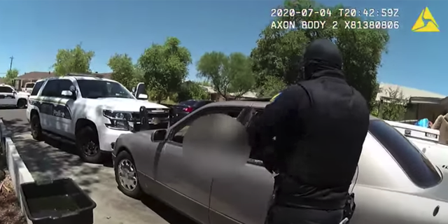 Screengrab from bodycam footage from a police-involved shooting on July 4.
