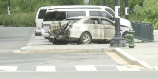 A Supreme Court car was set ablaze on Wednesday afternoon outsidethe high court and police have a suspect in custody (Fox News).