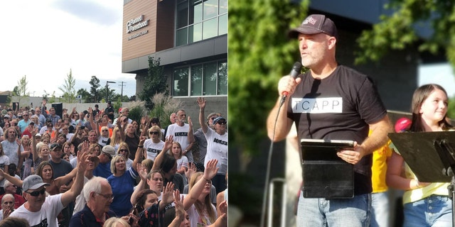 Pastor Ken Peters, who started The Church at Planned Parenthood (TCAPP), speaks Tuesday, July 28, 2020 in front of a Planned Parenthood abortion clinic in Spokane, Wash.