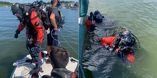 Rescue divers with the Indianapolis Fire Department helped find a titanium/carbon fiber leg valued prosthetic leg at $20,000 in a reservoir on Saturday.