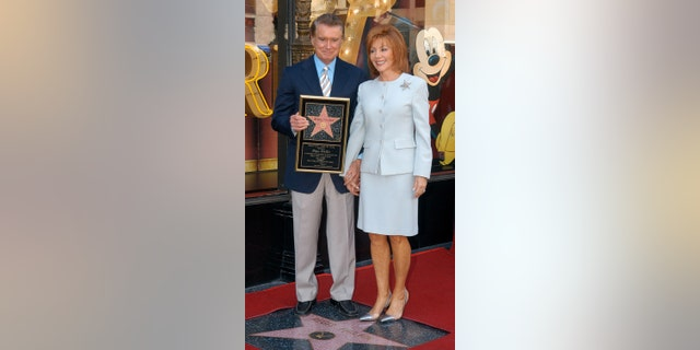Regis Philbin and wife Joy Philbin when he was honored with a star on the Hollywood Walk of Fame.
