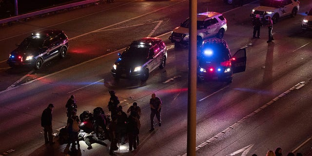 Dawit Kelete, 27, has been arrested and booked on two counts of vehicular assault in connection to the incident, authorities said. (James Anderson via AP)