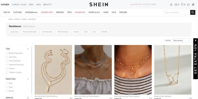 The e-commerce site has since removed the pendant from its website.