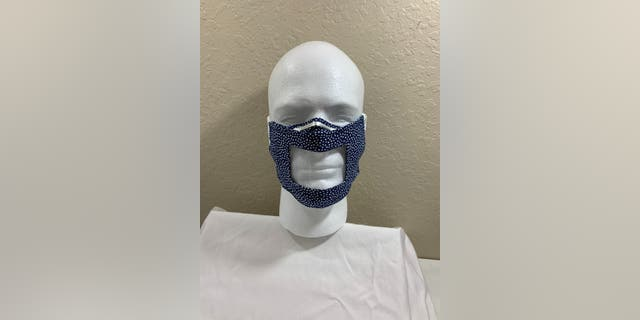 A windowed face mask created by Travers. (Brian Travers)