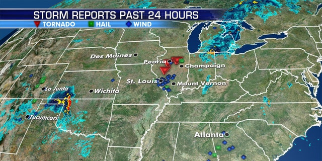 Severe weather was moving across the Midwest, with several tornadoes reported on Wednesday just as a Twitter outage left several National Weather Service (NWS) accounts unable to tweet out warnings.
