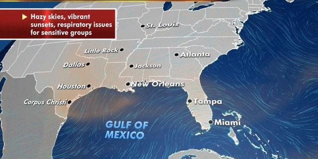 The Saharan dust layer lingers for one last day on Friday from an area across Texas and Louisiana.
