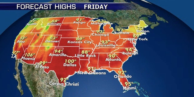 Dangerous heat will stick around on Friday.