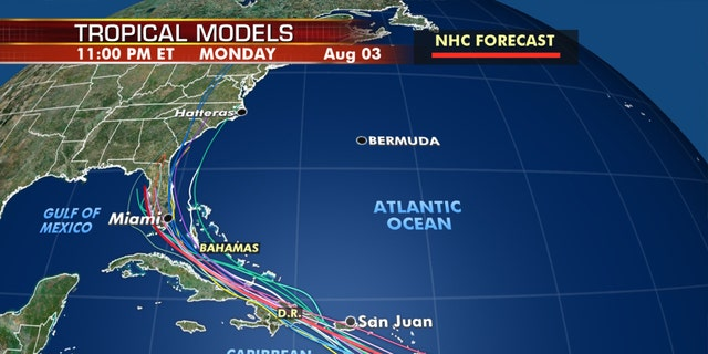 There is no clear sequence of the system in the next few days.