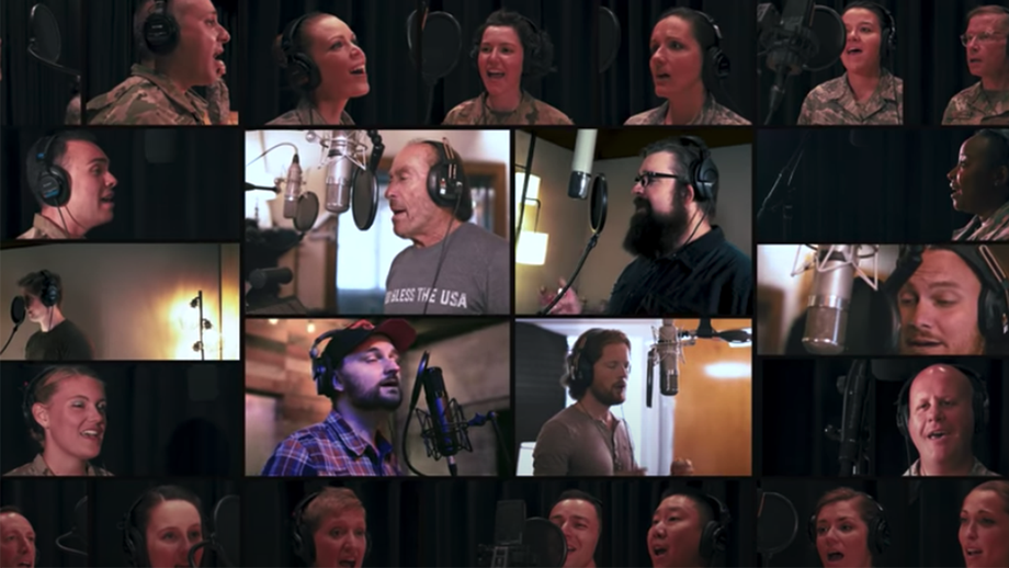 Lee Greenwood collaborates with US Air Force singers and Home Free for new version of 'God Bless the USA'