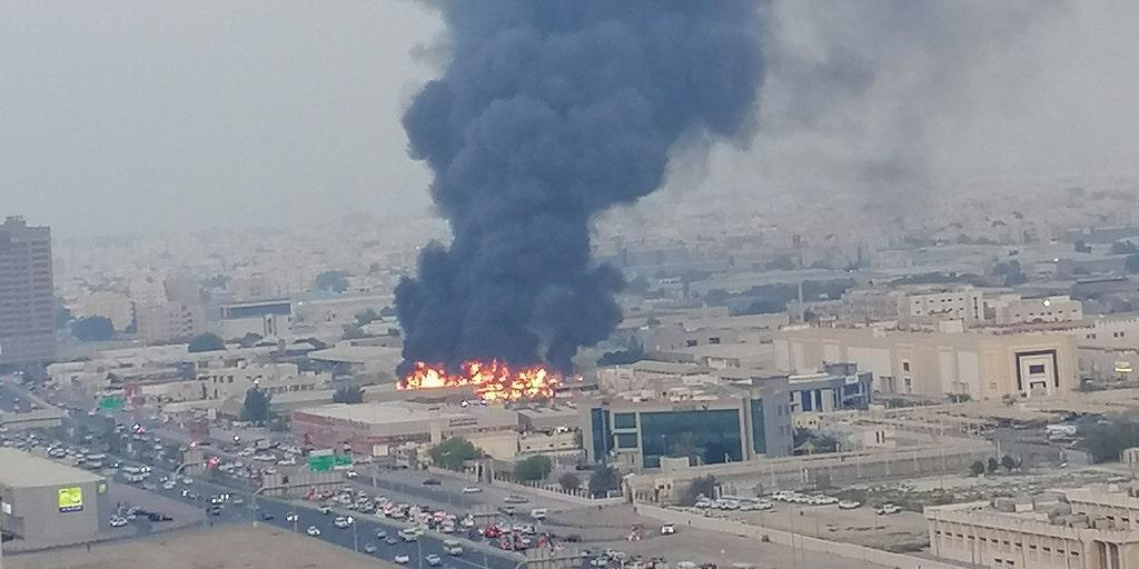 Massive fire breaks out at Ajman market in UAE | Fox News