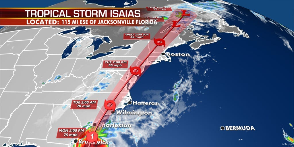 Isaias forecast to become hurricane again, target Carolinas before spreading impacts all the way to Maine