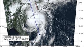 NASA captures storm Isaias in 'a slice' taken by satellite