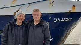 Honeymoon couple stranded by coronavirus returns home by hitching 5,000-mile ride on Antarctic fishing boat
