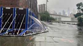 With Isaias approaching, flood barriers protect historic Brooklyn waterfront building
