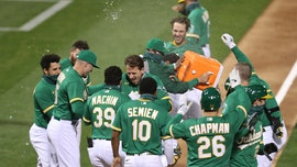 Athletics' Stephen Piscotty delivers walk-off grand slam against Rangers