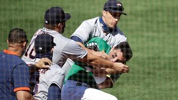 Athletics' Ramon Laureano says remark about his mom triggered Astros brawl