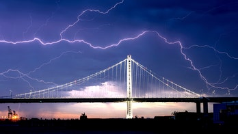 California hit by 'frequent lightning' as severe weather slams Bay Area, sparks new fires