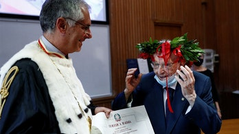 96-year-old Italian man, a WWII veteran, becomes country's oldest graduate