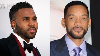 Will Smith's teeth seemingly knocked out by Jason Derulo during golf lesson