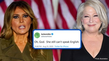 Bette Midler accused of xenophobic tweets mocking Melania Trump: 'She still can't speak English'