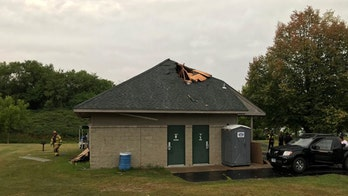Lightning strike in Minnesota hits shelter with 40 people attending party, 3 evaluated for injuries