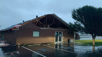 Arkansas church damaged in tornado spun off from Hurricane Laura